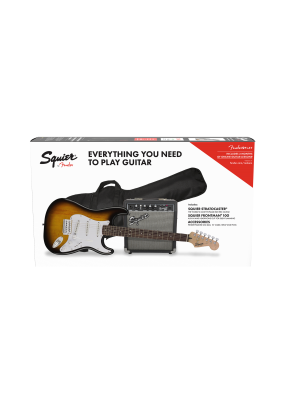 Squier Stratocaster 10G Electric Guitar Pack Brown Sunburst - 0371823306