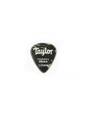 Taylor Premium 351 Thermex Ultra Picks- Black Onyx- 1.25mm- 6-Pack