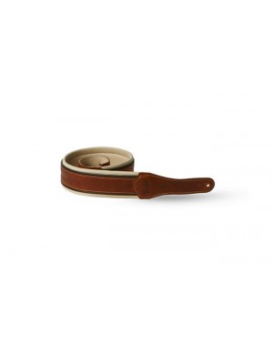 "Taylor Renaissance Leather Guitar Strap 2.5"" - Medium Brown"