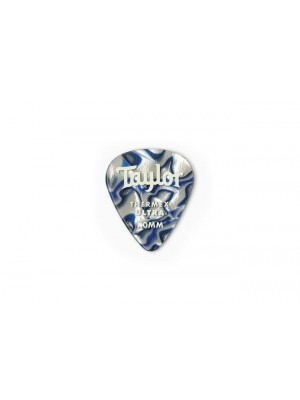 Taylor Premium 351 Thermex Ultra Picks- Blue Swirl- 1.00mm- 6-Pack