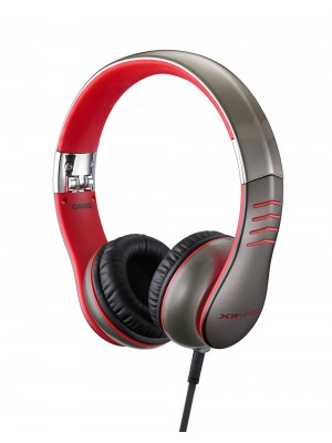 Casio XWH3 - Performance headphones - foldable - Silver & Red