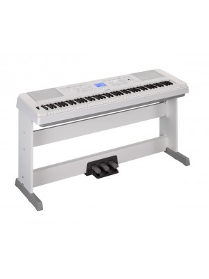 Yamaha DGX660 88 Note Digital Piano (White) Plus Free LP7A Pedal Attachment
