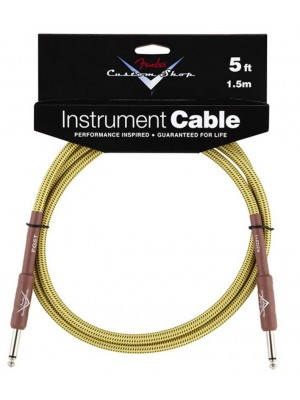 Fender Custom Shop Performance Series 5ft Instrument Cable - Tweed