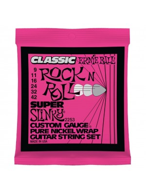 Ernie Ball 2253 Super Slinky (9-42) Pure Nickel Electric Guitar Strings