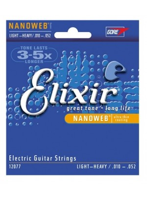 Elixir Nanoweb Light / Heavy (10-52) Electric Guitar Strings
