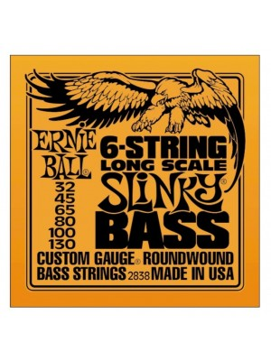Ernie Ball 2838 Slinky Nickel Round Wound 6-String Electric Bass Strings