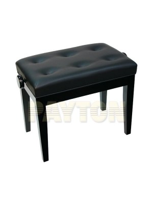 Paytons Adjustable Buttoned Seat Piano Bench - Black