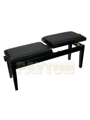 Paytons Adjustable Duet Piano Bench - Black