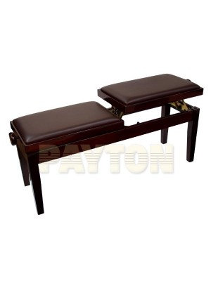 Paytons Adjustable Duet Piano Bench - Mahogany