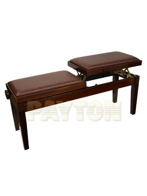 Paytons Adjustable Duet Piano Bench - Walnut