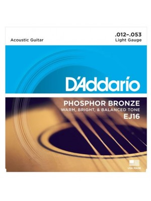 D'Addario EJ16 Phosphor Bronze Light (12-54) Acoustic Guitar Strings