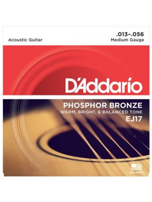 D'Addario EJ17 Phosphor Bronze Medium (13-56) Acoustic Guitar Strings