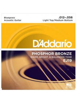 D'Addario EJ19 Phosphor Bronze Bluegrass (12-56) Acoustic Guitar Strings