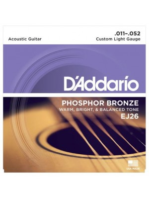 D'Addario EJ26 Phosphor Bronze Custom Light (11-52) Acoustic Guitar Strings