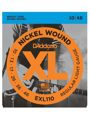 D'Addario EXL110 Regular Light (10-46) Electric Guitar Strings