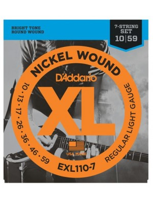 D'Addario EXL110-7 Light 7-String (10-59) Electric Guitar Strings
