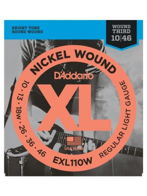D'Addario EXL110W Regular Light (10-46 wound 3rd) Electric Guitar Strings