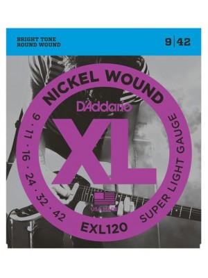 D'Addario EXL120 Super Light (9-46) Electric Guitar Strings - 10-Pack