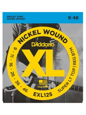 D'Addario EXL125 Super Light Top / Regular Bottom (9-46) Electric Guitar Strings