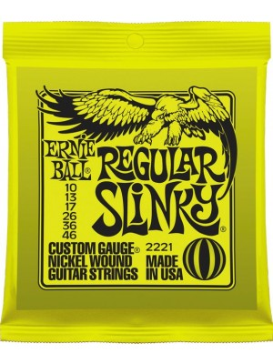 Ernie Ball 2221 Regular Slinky (10-46) Nickel Electric Guitar Strings - 3 Pack