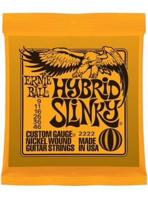 Ernie Ball 2222 Hybrid Slinky (9-46) Nickel Electric Guitar Strings - 3 Pack