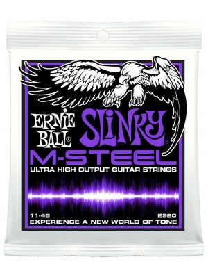 Ernie Ball 2920 M-Steel Power Slinky (11-48) Nickel Electric Guitar Strings