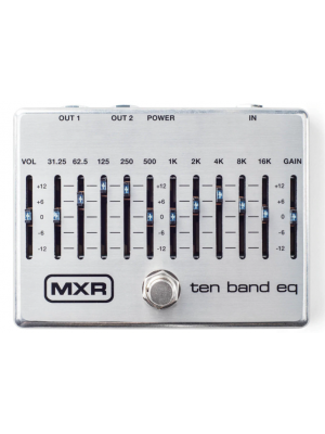 MXR Ten Band Graphic EQ Effects Pedal