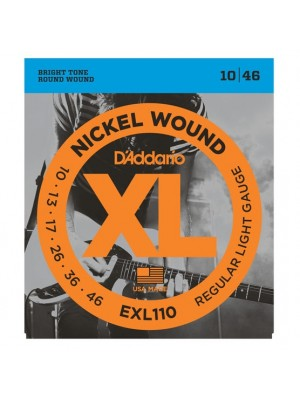 D'Addario EXL110 Regular (10-46) Electric Guitar Strings - 10-Pack