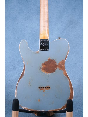 Fender Custom Shop '64 Telecaster Heavy Relic Aged Ice Blue Metallic Electric Guitar - CZ543779B