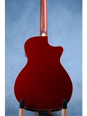 Fender Newporter Player Left Handed Candy Apple Red Acoustic Electric Guitar (B-STOCK) - IWA1915173B
