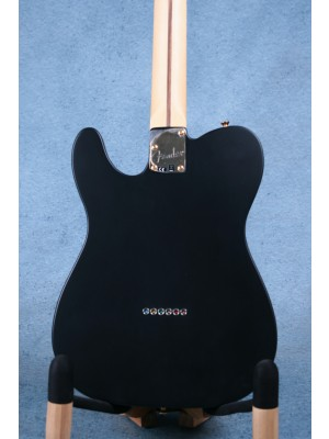 Fender Limited Edition Deluxe Telecaster Thinline Satin Black Electric Guitar (B-STOCK) - MX19044572B