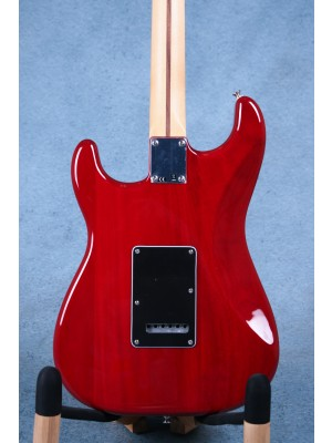 Fender Limited Edition Mahogany Blacktop Stratocaster Crimson Red Electric Guitar - MX19103872