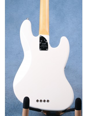 Fender American Professional II Jazz Bass Left Handed Olympic White Electric Bass Guitar - US210012579