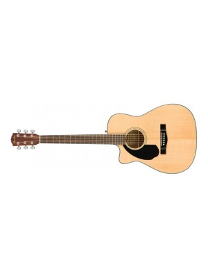 Fender CC-60SCE Concert Acoustic Guitar Left-Handed - Natural, Walnut Fingerboard