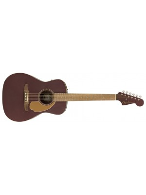 Fender Malibu Player Acoustic/Electric Guitar - Burgundy Satin, Walnut Fingerboard