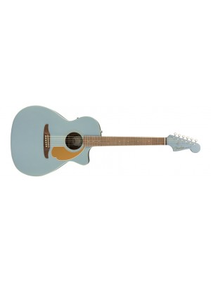Fender Newporter Player Acoustic/Electric Guitar - Ice Blue Satin, Walnut Fingerboard