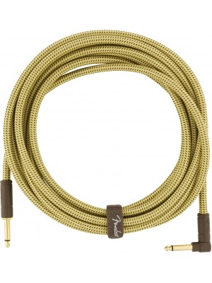 Fender Deluxe Series Instrument Cable Straight/Angle 10' Tweed
