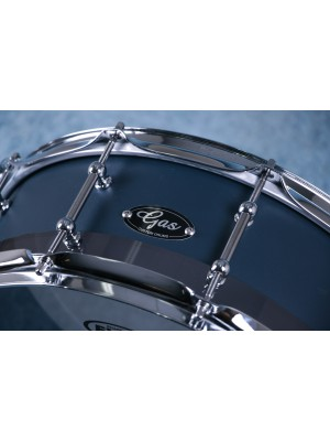 """Gas Custom Drums 14""""x5"""" Acrylic Blue Berry Snare Preowned"""