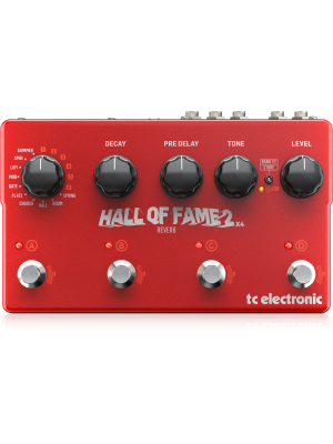TC Electronic Hall of Fame 2 X4 Reverb Effects Pedal