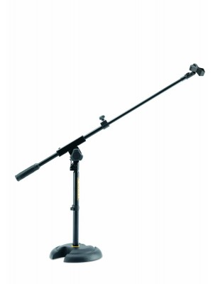 Hercules MS120B Short  Microphone Stand With Boom & Solid Base