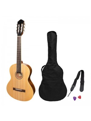 Martinez 'Slim Jim' 3/4 Size Student Classical Guitar Pack with Built In Tuner