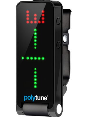 TC Electronics POLYTUNE CLIP 2 - Black, Clip-on, Polyphonic Guitar Tuner