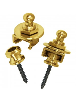 Schaller Guitar Strap Locks and Buttons (Pair) - Gold