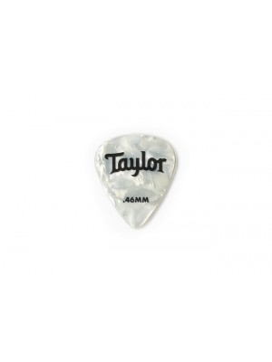 Taylor Celluloid 351 Picks- White Pearl- 0.46mm- 12-Pack