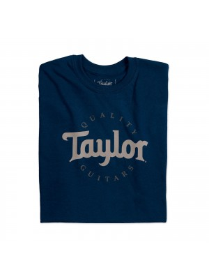 Taylor Mens Two-Colour Logo T-Shirt - Navy Large