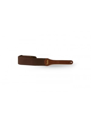 Taylor Strap - Chocolate Brown Cotton, 2""