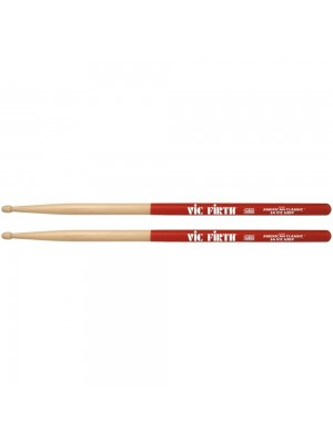 Vic Firth American Classic Hickory AVG Grip Drumsticks - 5A Wood Tip