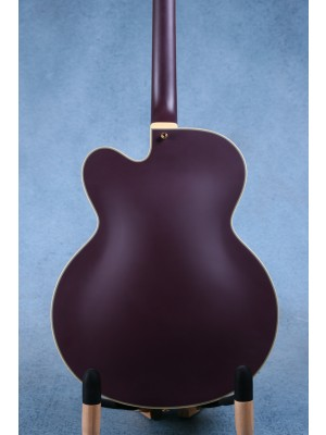 D'Angelico Deluxe EXL-1 Hollowbody Electric Guitar Matte Plum w/ Case - Preowned